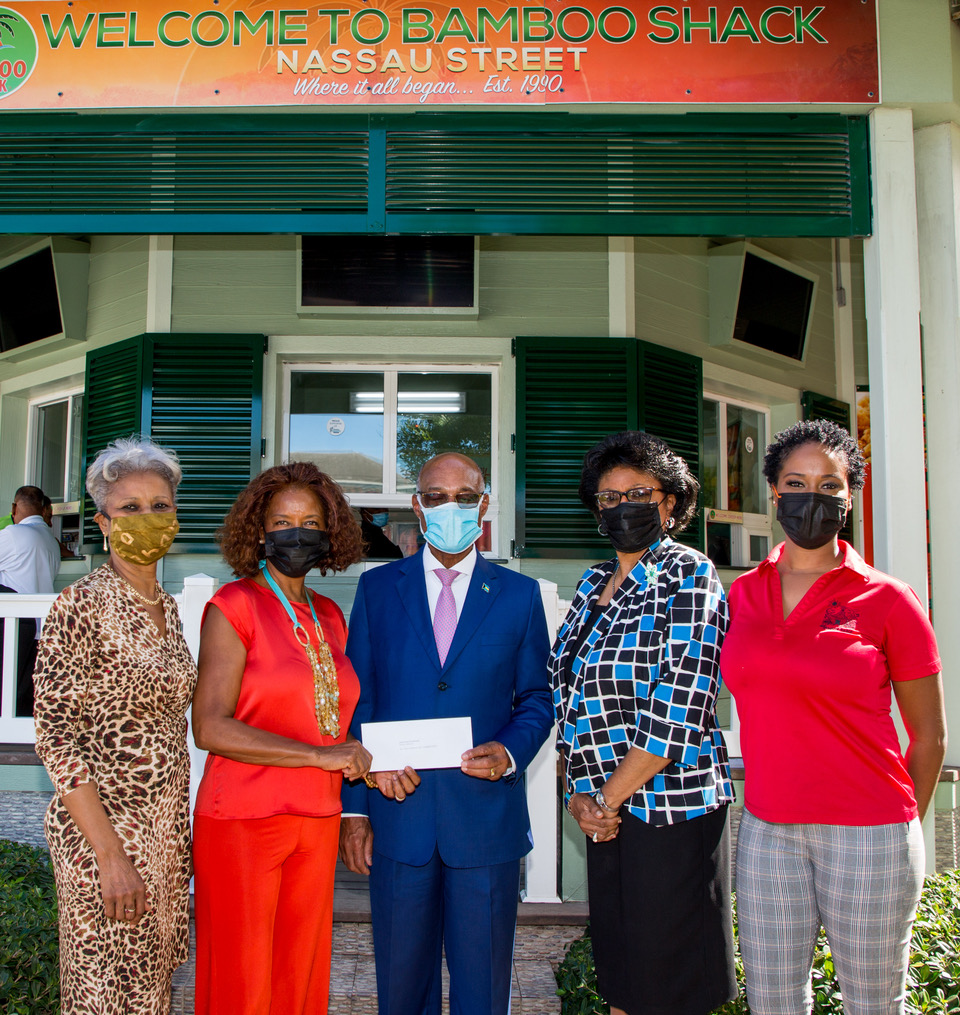 Bamboo Shack, Bethel Brothers Morticians donate tablets